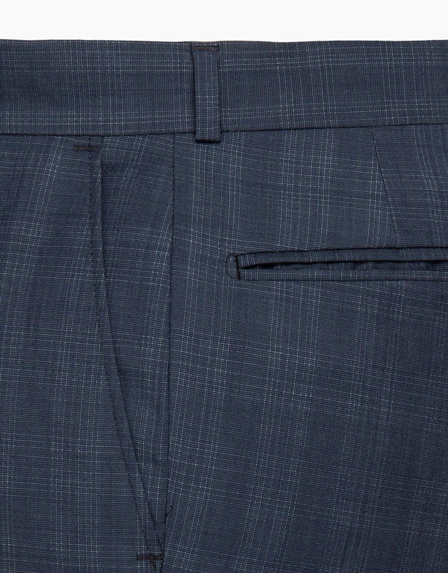 Lotus Blue Check Suit Trouser