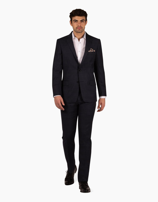 Cooper Navy Check Suit Jacket
