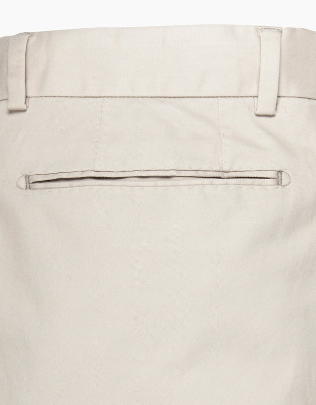 Beck Cream Twill Washed Chinos