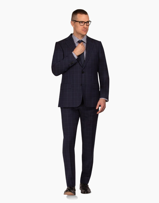 Gresham Navy Check Suit
