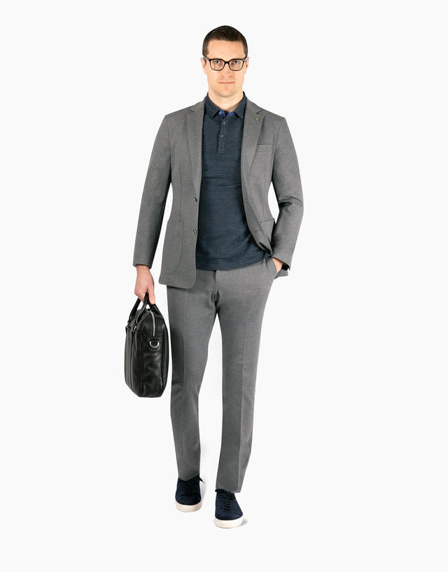 Venice Grey Marle Knit Trouser