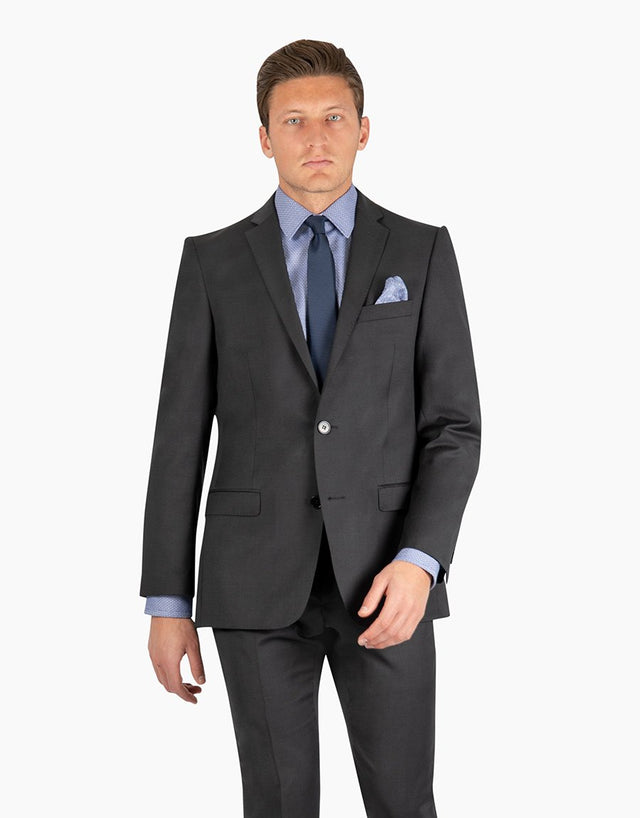 Proto Charcoal Microcheck Two Piece Suit