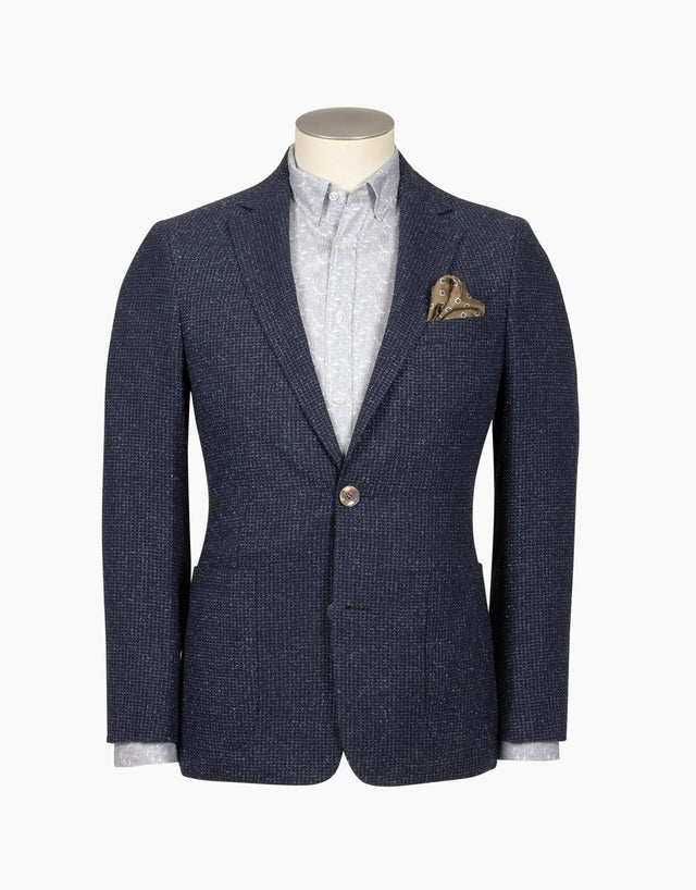 Pearse navy boucle blazer