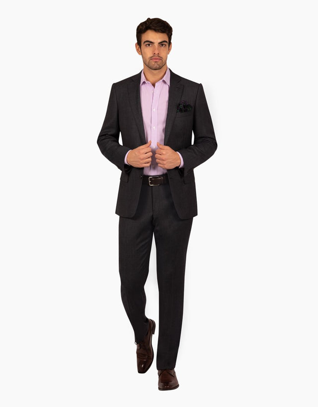 Hawke charcoal birdseye two trouser suit