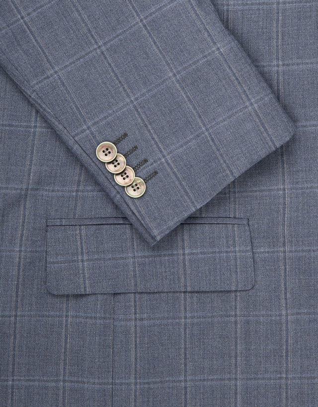 Lewis blue check suit