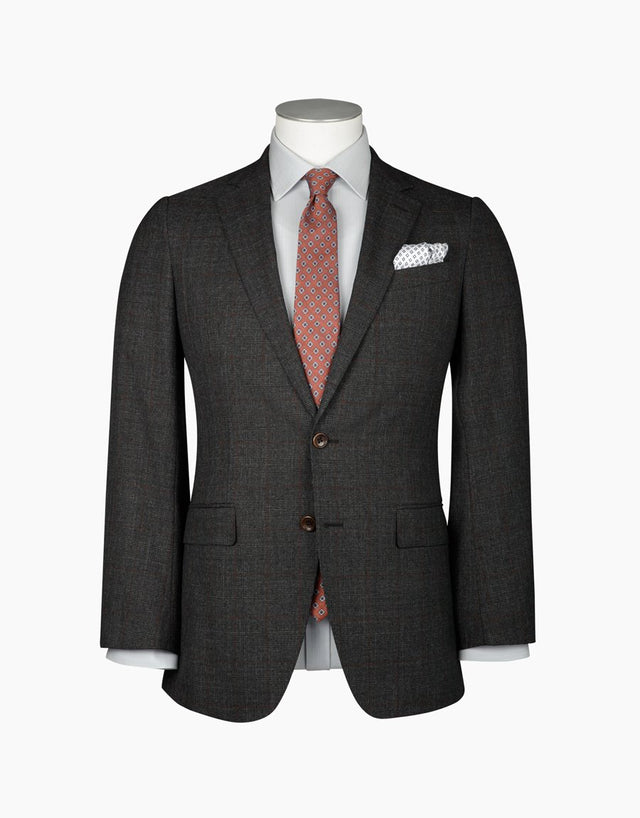 Blake charcoal check suit