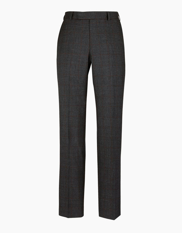 Lotus charcoal check suit trouser