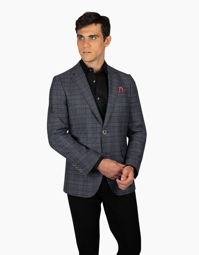 Hawker Navy Check Blazer