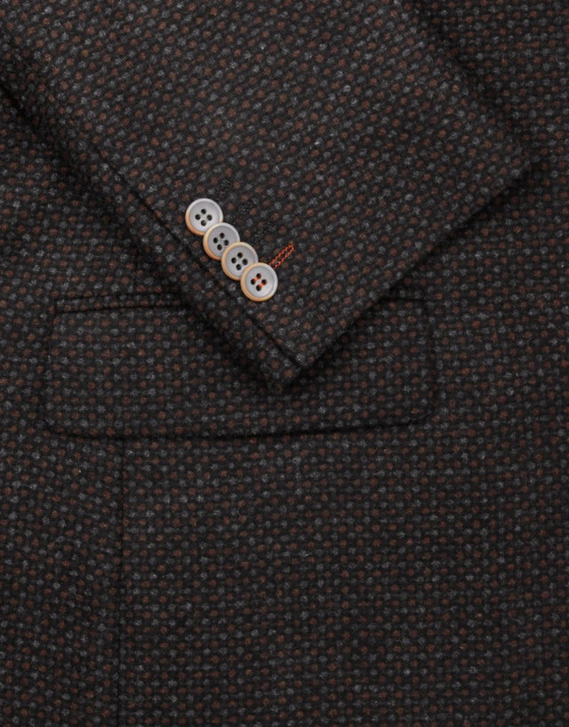 Hawker chocolate brown & grey blazer