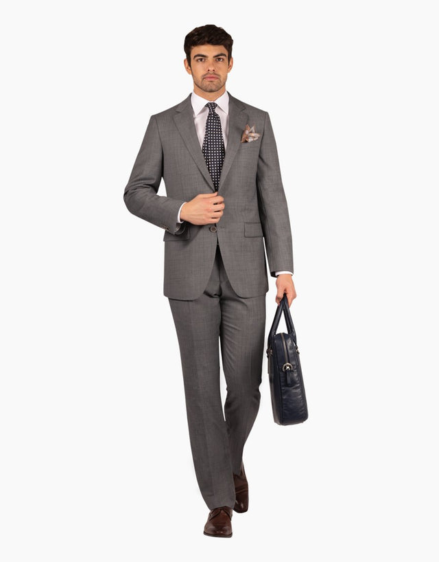 Cooper grey check suit
