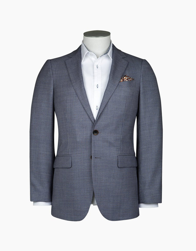 Cooper Light Blue Birdseye Blazer