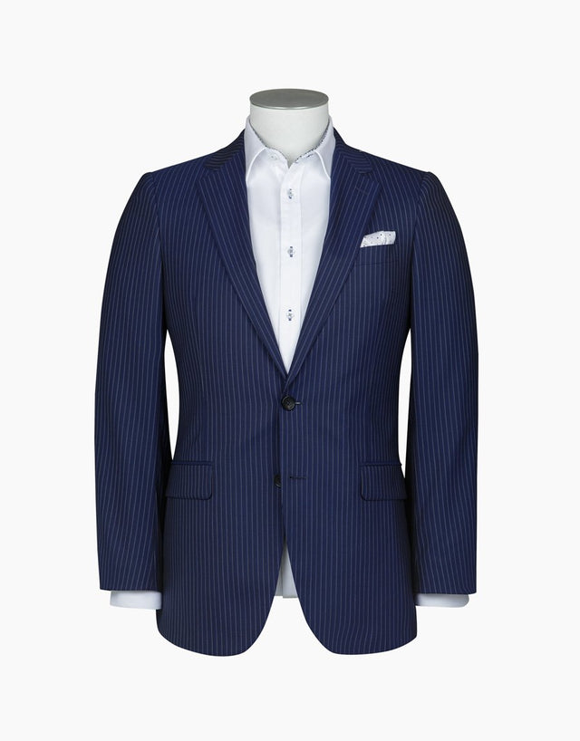 Cooper Navy Stripe Suit Jacket