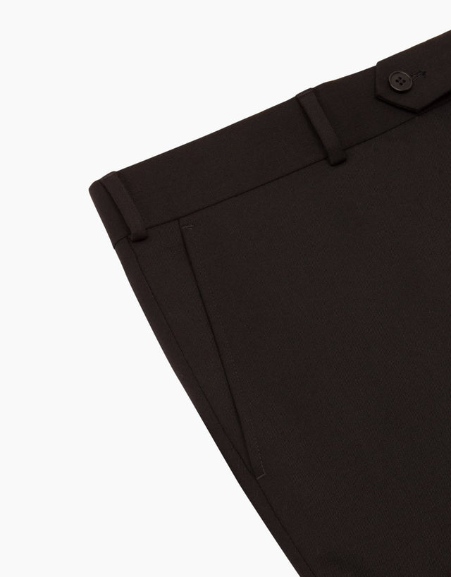 Hollywood Black Gabardine Trouser