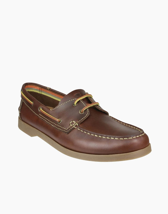 Florsheim Brown 2 Hole Classic Boatshoe