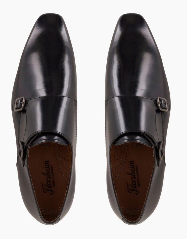 Florsheim Flicker Black Double Monk Strap