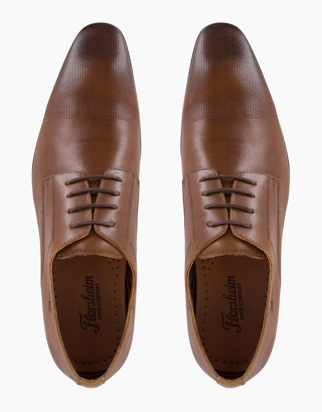 Florsheim Turner Tan Perforated Toe Derby