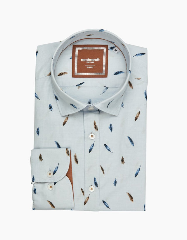 Knight blue feather shirt