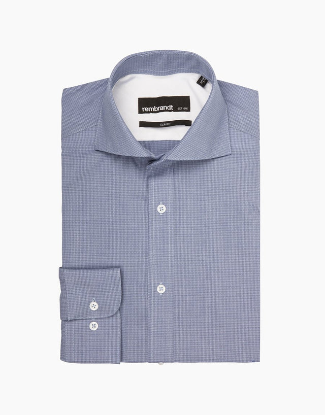 Brosnan Blue Tailored Shirt