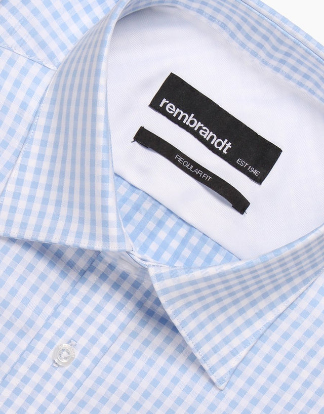 Sinatra blue gingham tailored shirt