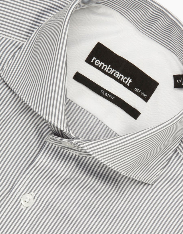 Brosnan Grey Stripe Business Shirt