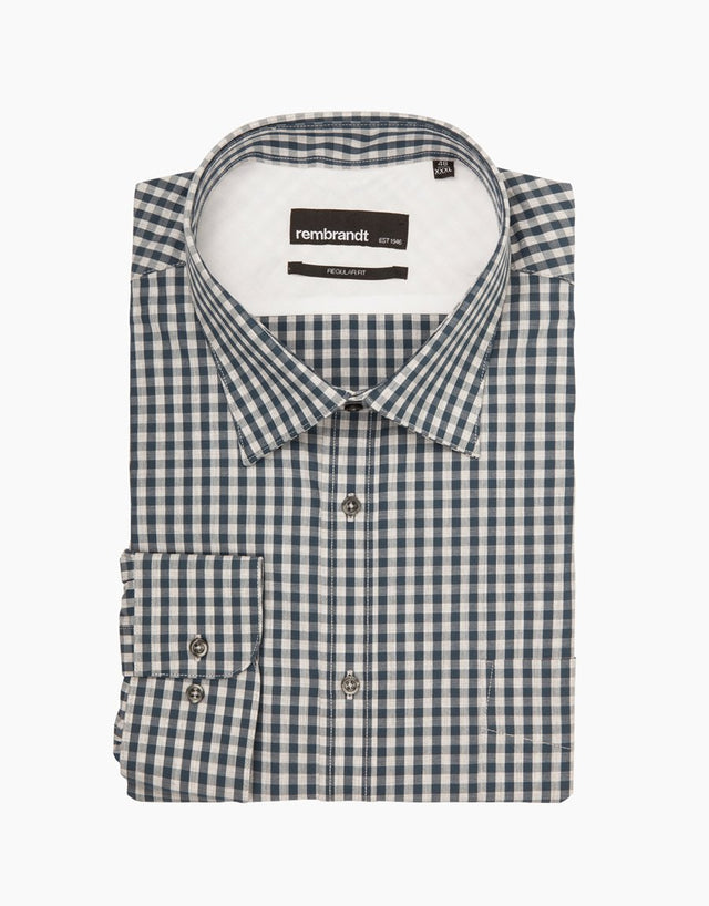 Papamoa Blue Check Casual Shirt