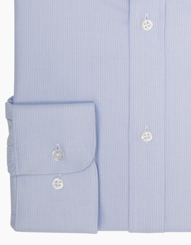 Sinatra Light Blue Microdesign Business Shirt