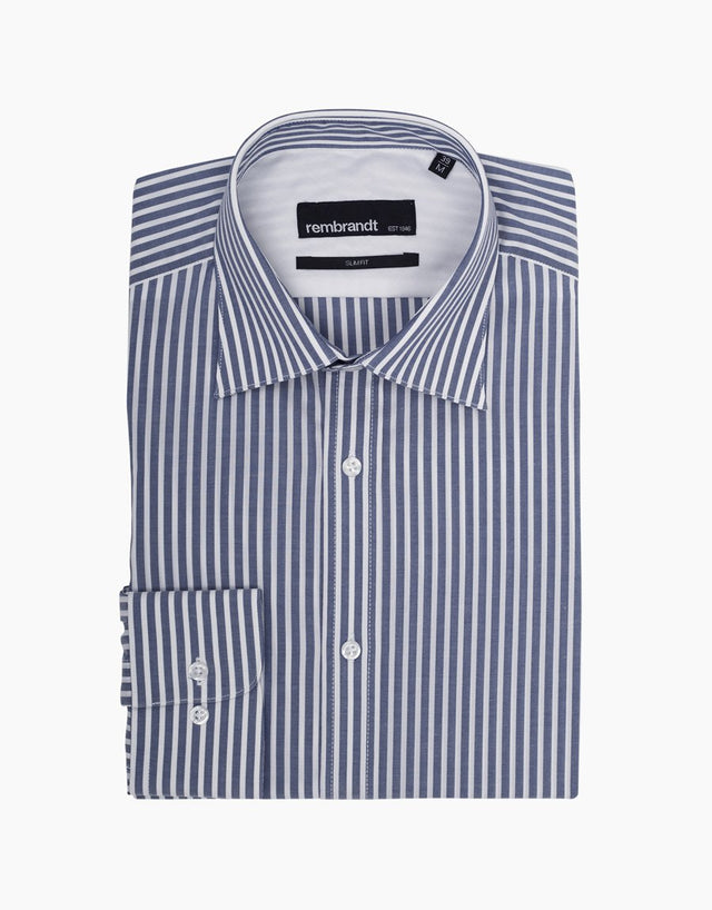 London Navy Stripe Business Shirt