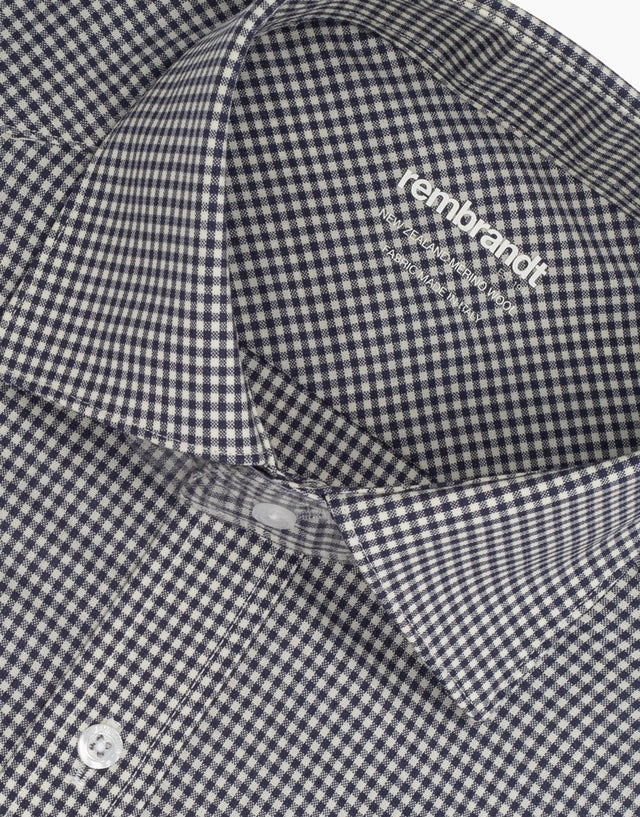 McCahon Black & White Check Merino Wool Shirt