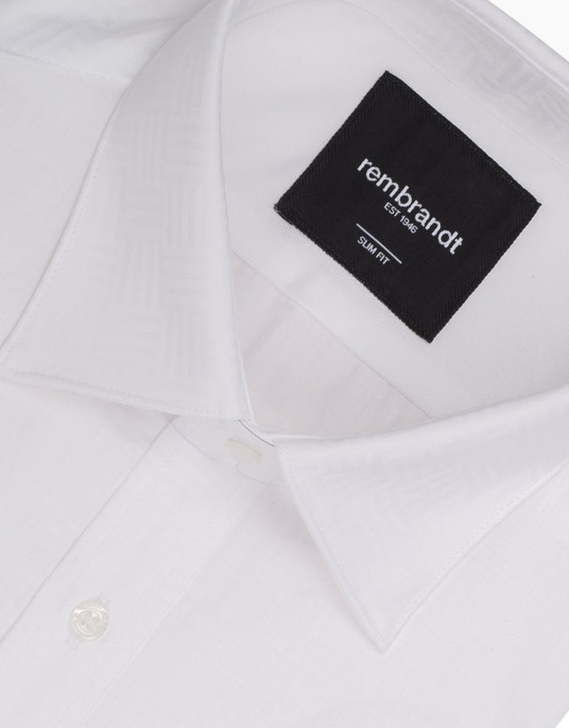London White Geometric Shirt
