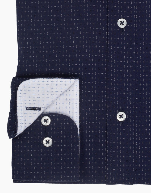 Awaroa navy & white shirt