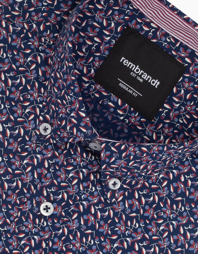 Awaroa Navy Floral Shirt