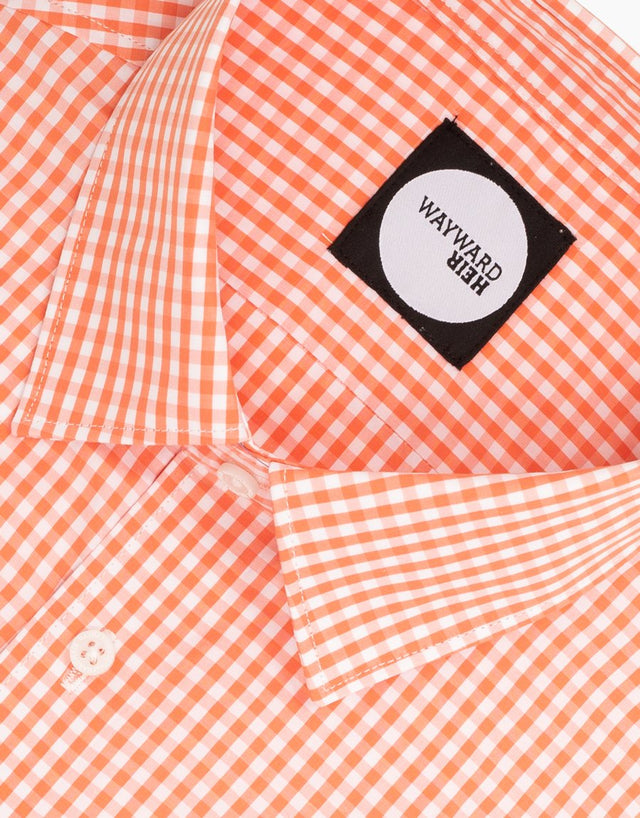 Brooklyn Orange Gingham Shirt