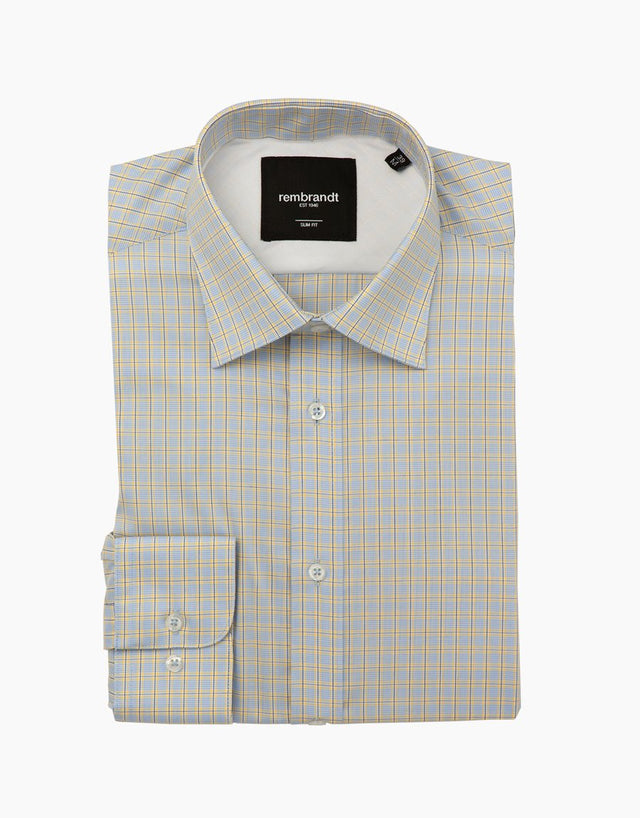 London yellow & blue check shirt