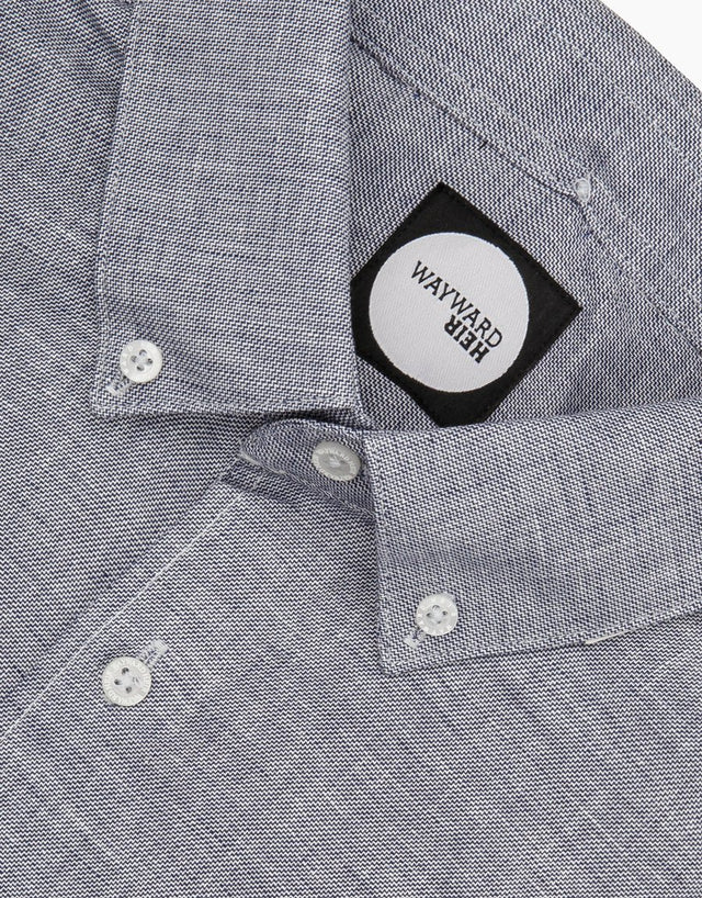 Kelburn blue sharkskin shirt