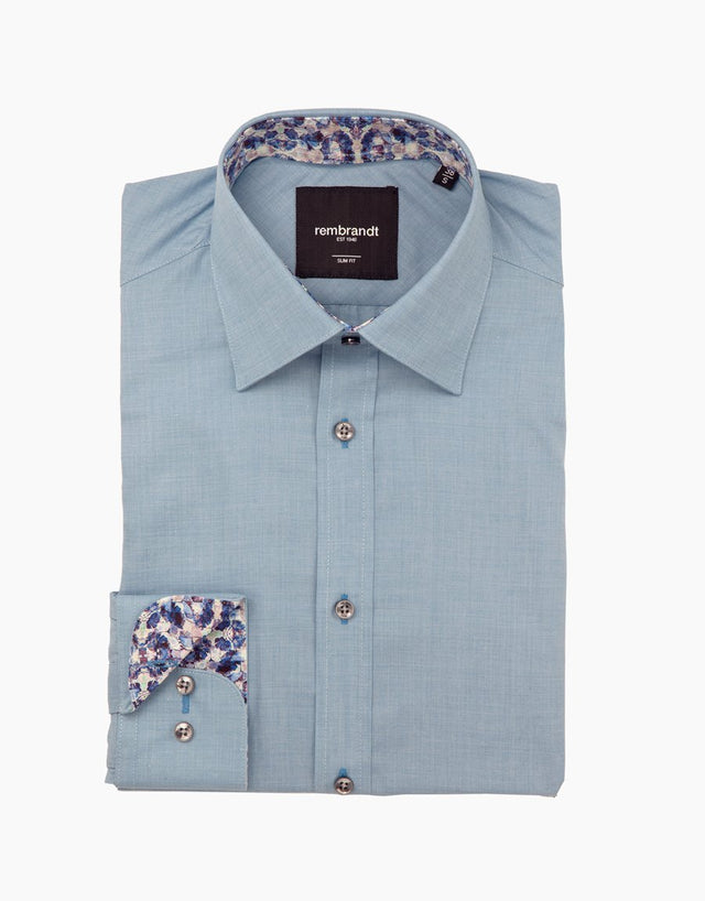 Barbican blue business shirt