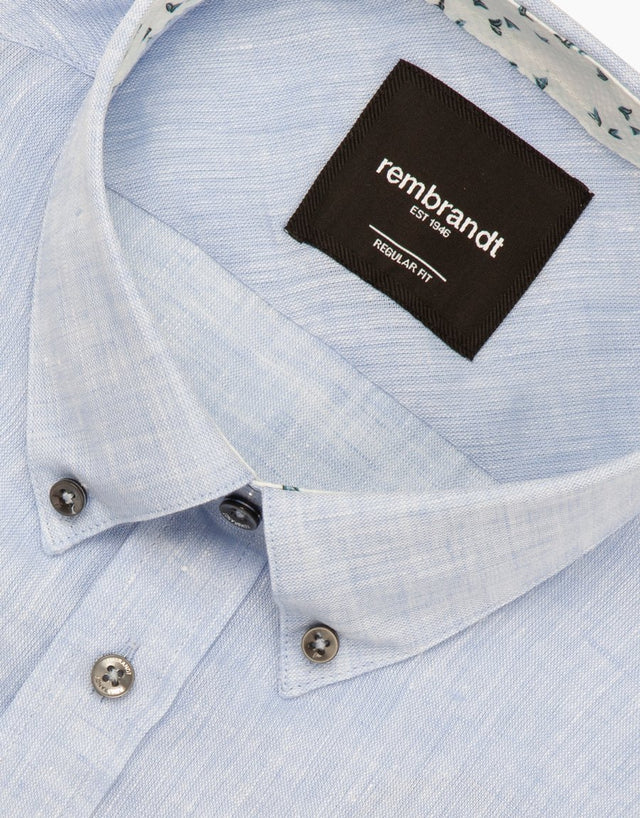 Awaroa light blue linen shirt