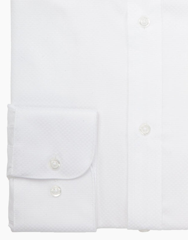 London white textured business shirt