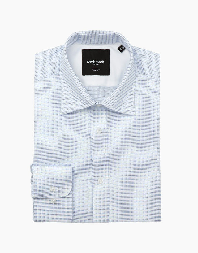 London white micro-design shirt