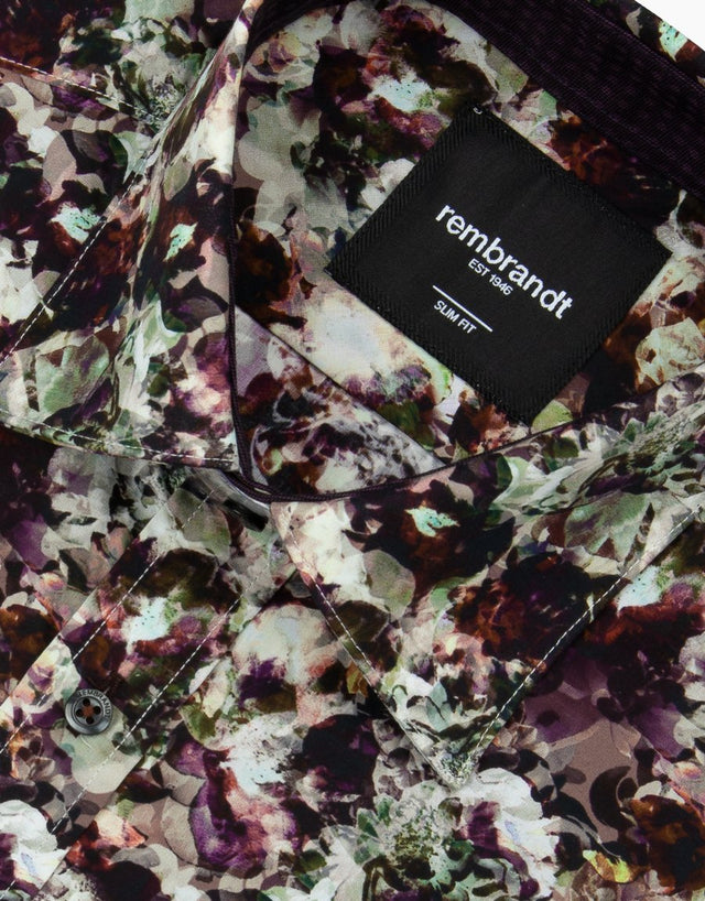 Barbican Purple Floral Shirt
