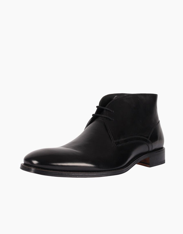 Chukka Black Leather Boots