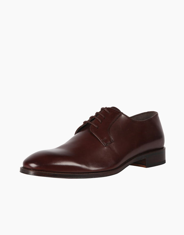 Chocolate Derby Leather Shoe