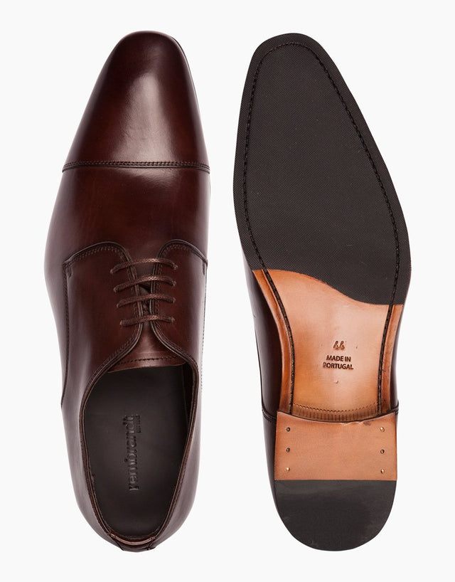 Chocolate Captoe Derby Shoes