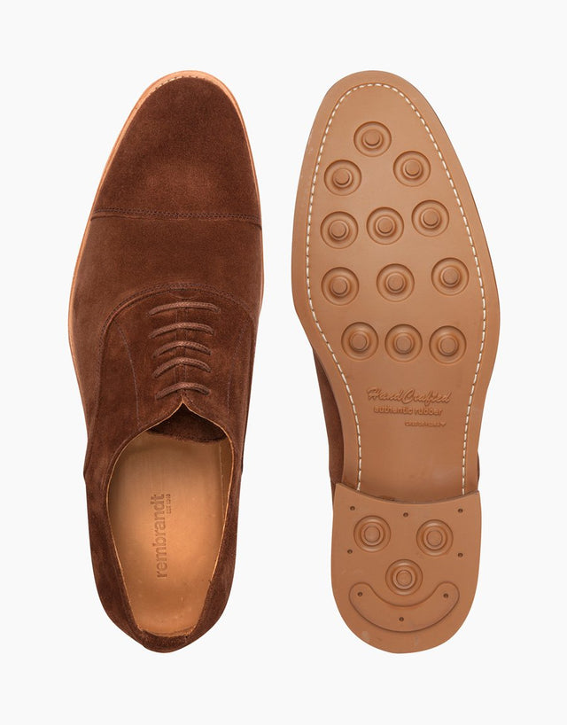 Brown Cap Toe Suede Shoes