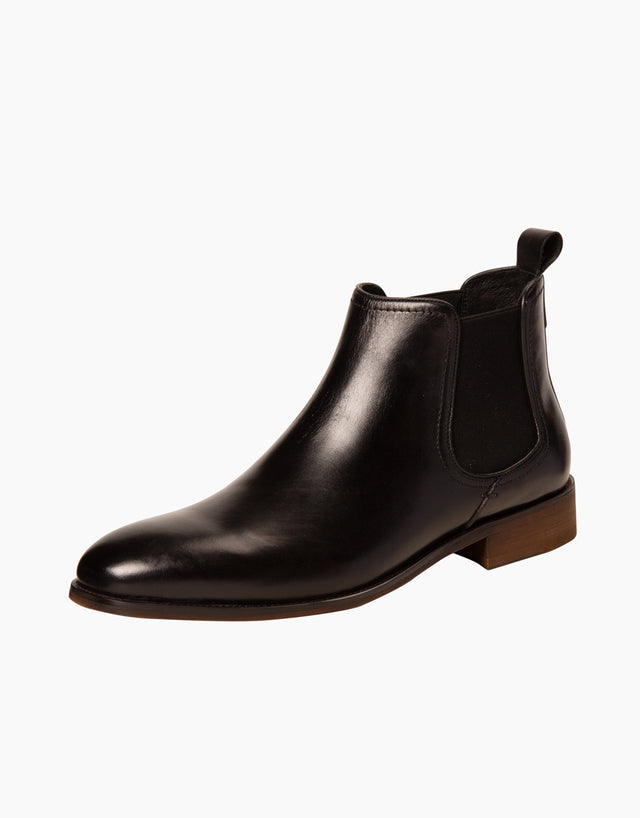 Chamonix black leather chelsea boot