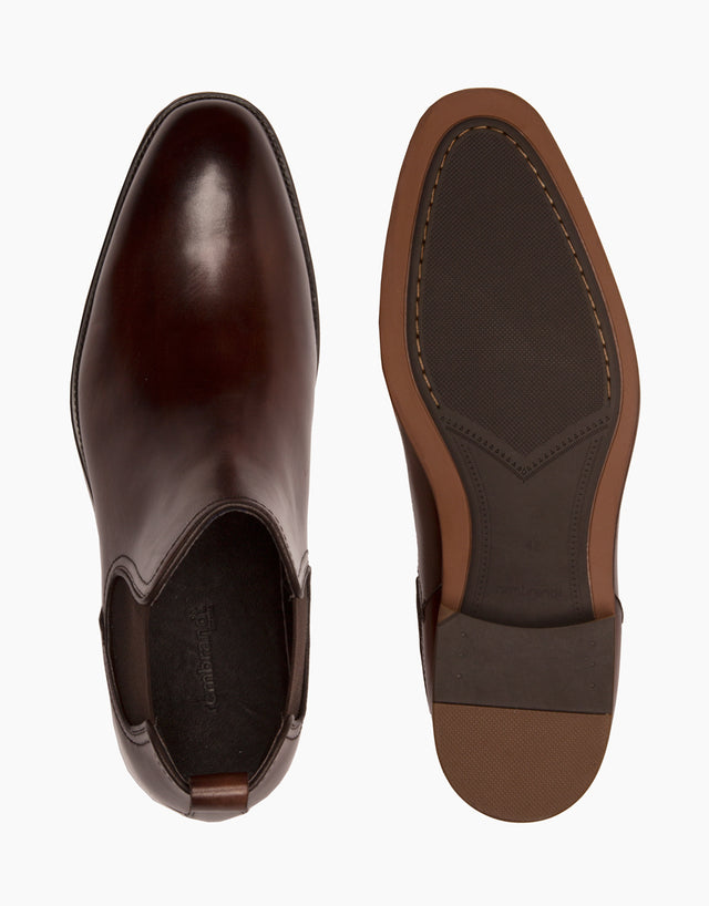 Chamonix chocolate leather chelsea boot