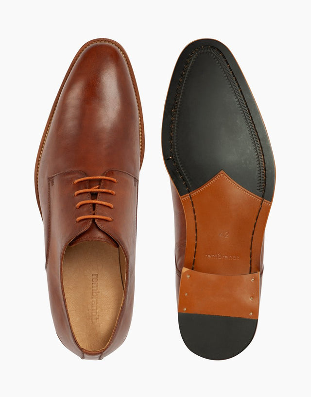 Oslo tan leather derby shoe