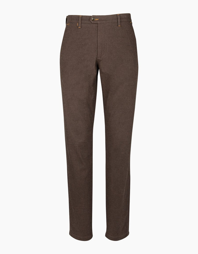 Soho brown birdseye chinos