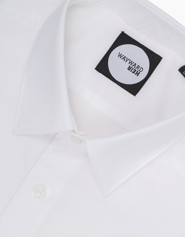 Brooklyn White Twill Tailored Shirt