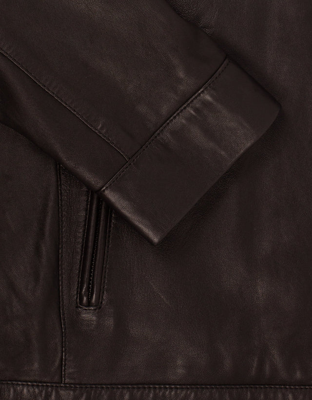 Marlon black leather jacket