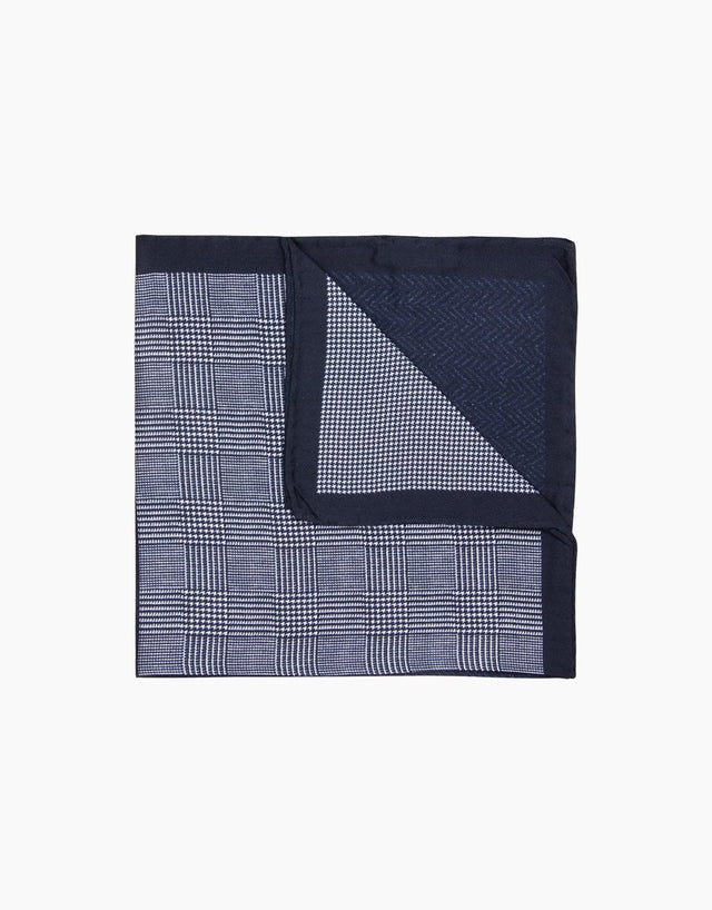 Black Geometric Pocket Square